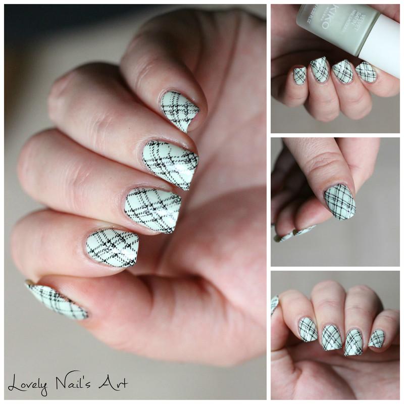 Nail art stamping hivernal  nail art by Lovely Nail's  Art