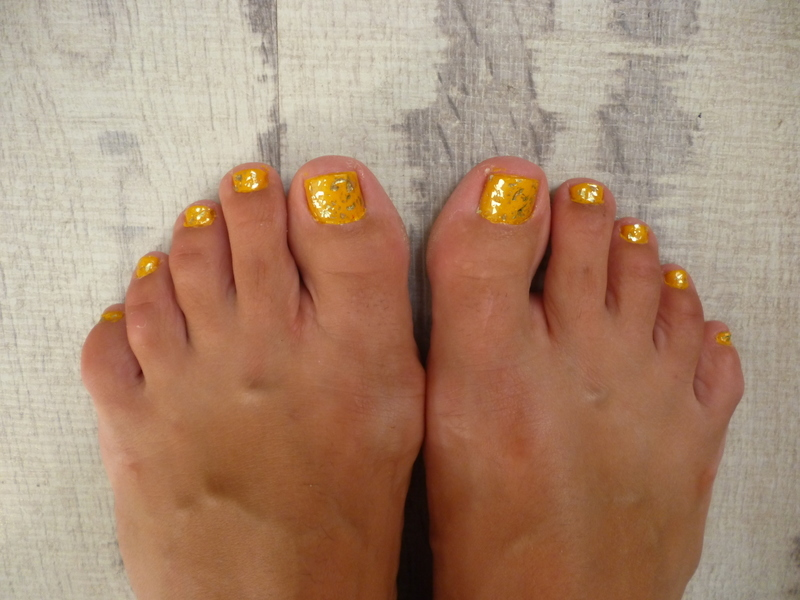 Fall feet nail art by velinux