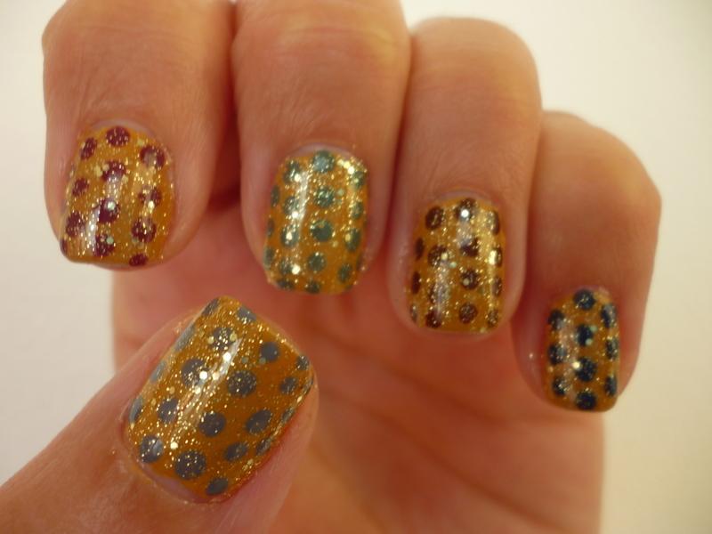 Glittery Fall nail art by velinux