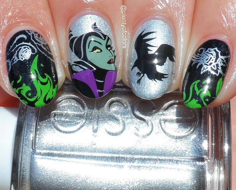 Mistress of all Evil nail art by Plenty of Colors