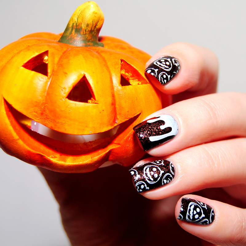 Pumpkins nail art by Lackopfer
