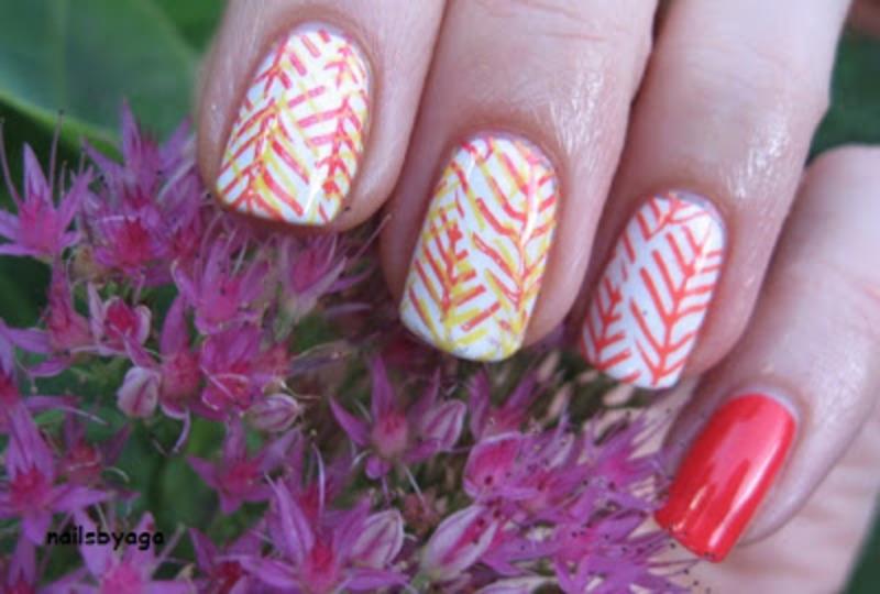 Autumn leaves nail art by agazar30