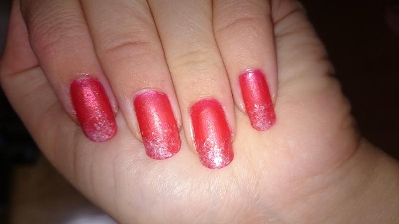 Matte flakes nail art by Sabina Salomonsson