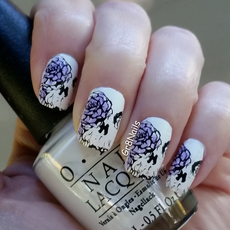 Skull nail art by Gr8Nails