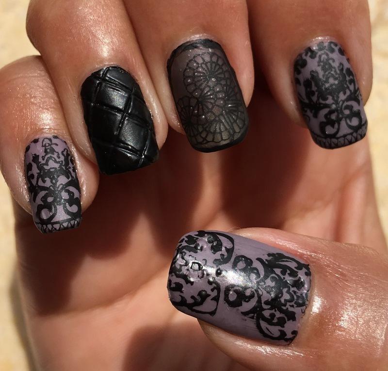 fall damask nail art by Idreaminpolish