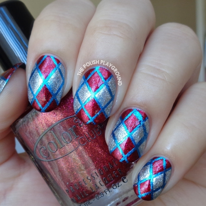 Phone Case Pattern Inspired Nail Art nail art by Lisa N