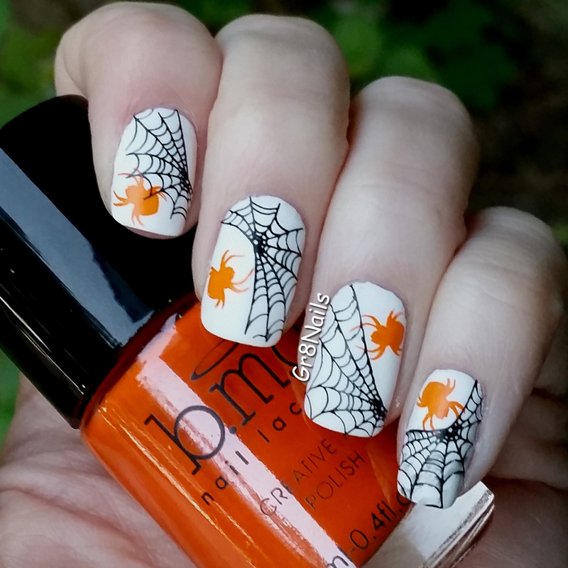 Halloween Spiders nail art by Gr8Nails