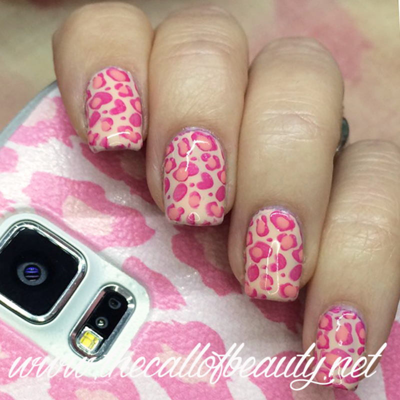 Pink Leopard nail art by The Call of Beauty