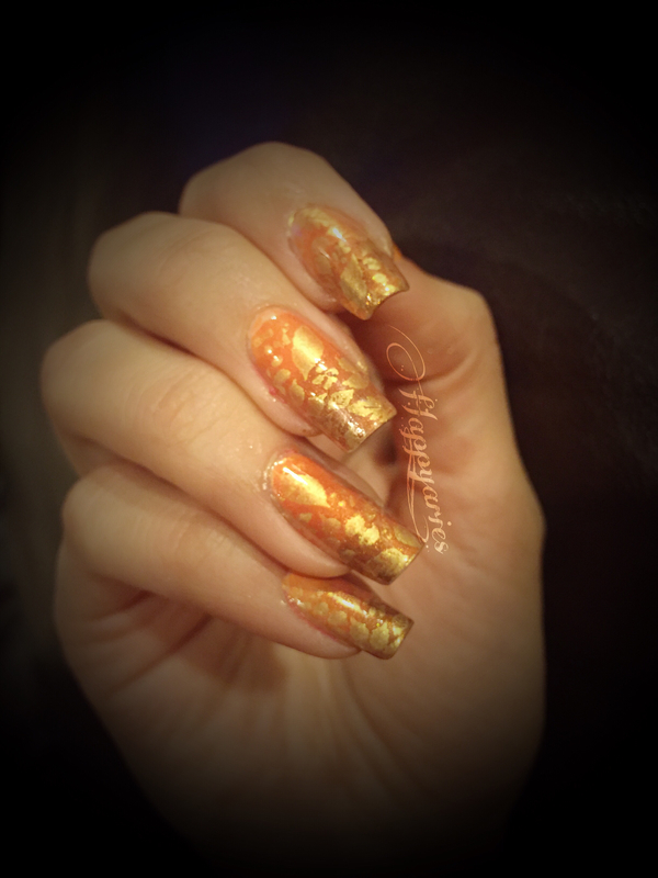 Autumn leaves  nail art by Happy_aries