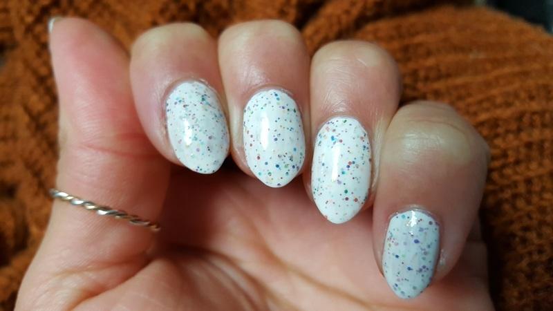 Rainbow Sprinkles nail art by Alisha Worth