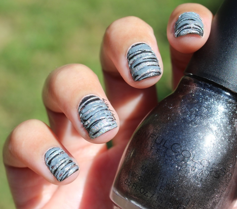 Sugar-Spun Spiderwebs nail art by Monica