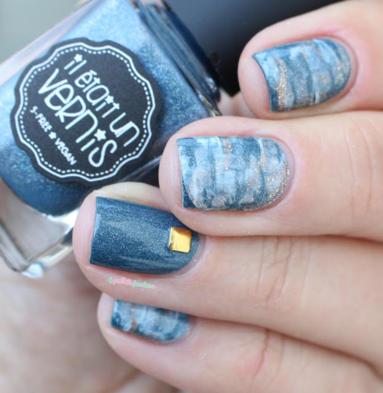 jeans marble nail art by nathalie lapaillettefrondeuse