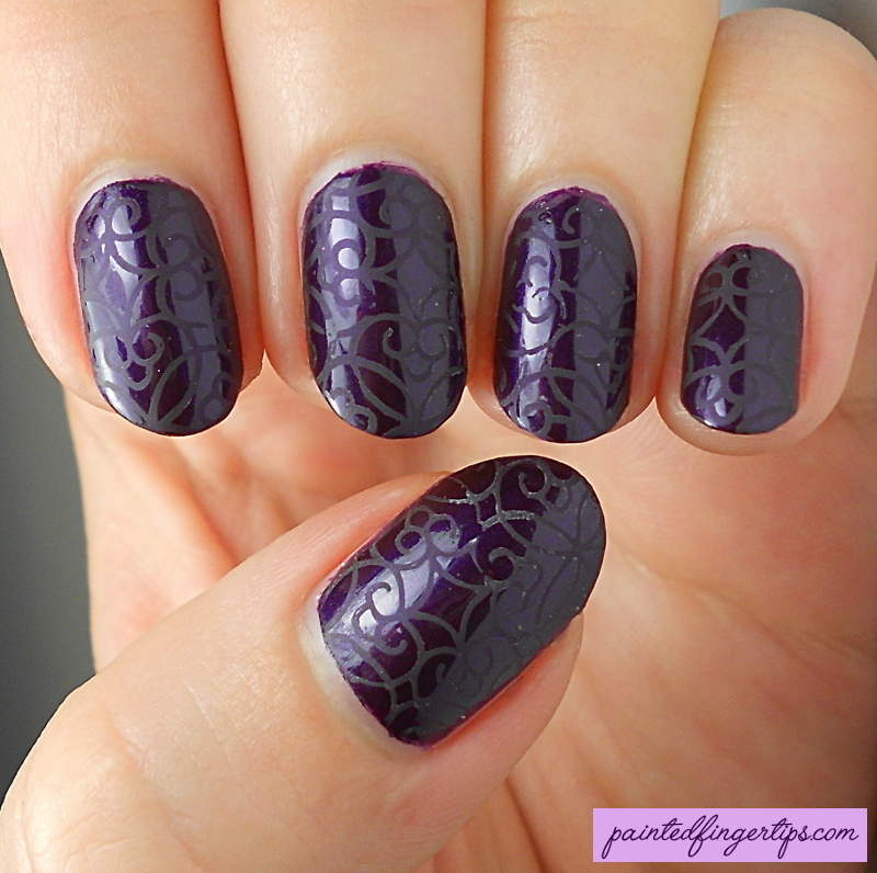 Matte stamping nail art by Kerry_Fingertips