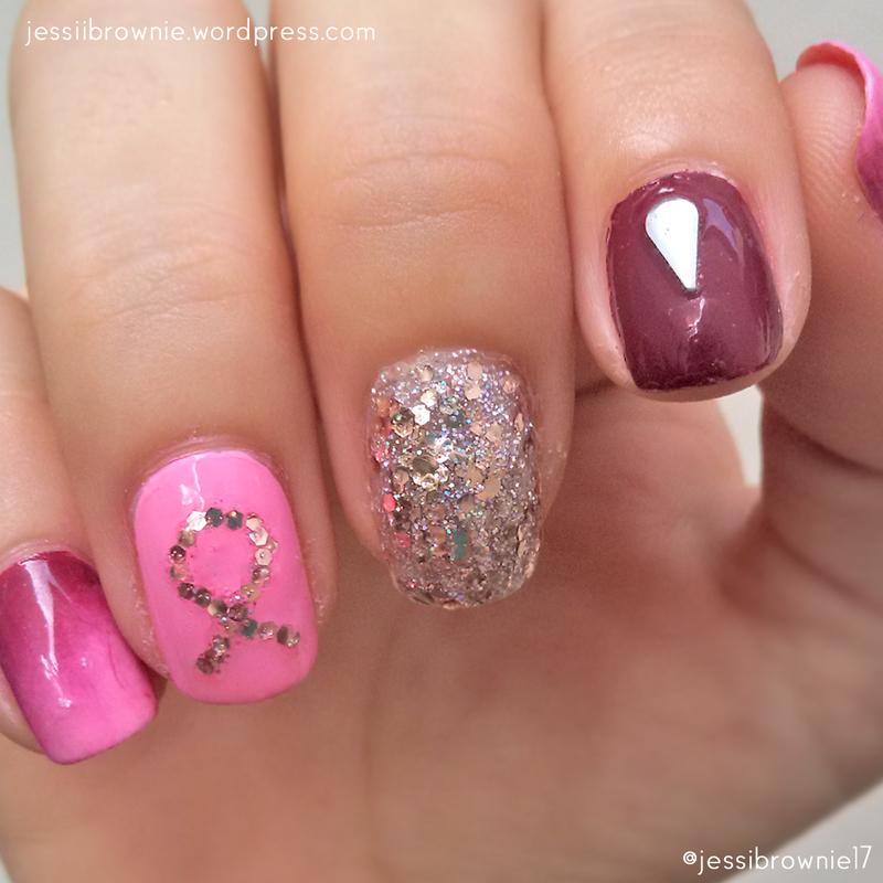 Pinktober '16 nail art by Jessi Brownie (Jessi)