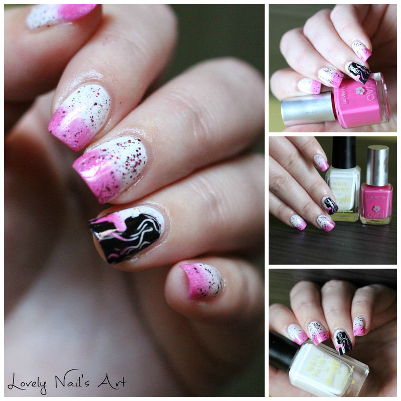 Nail art stamping octobre rose nail art by Lovely Nail's  Art