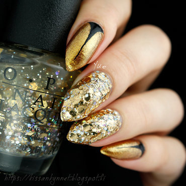 Gold glitter nail art 2 thumb370f