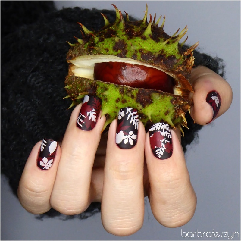 Fall leaves nails nail art by barbrafeszyn