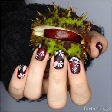 Fall leaves nails nail art by barbrafeszyn