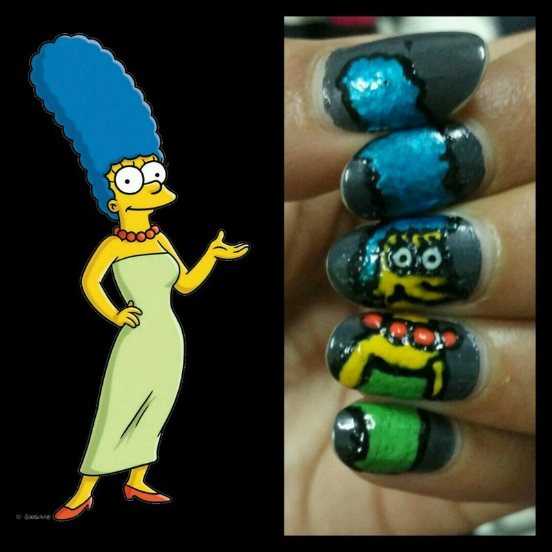 Mrs Simpson nail art by mini patariya