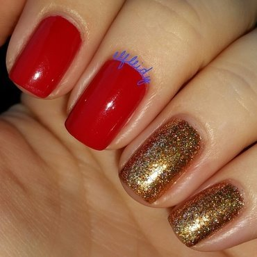 Ulta3 Sizzling Red and ILNP The Harpist Swatch by Jenette Maitland-Tomblin