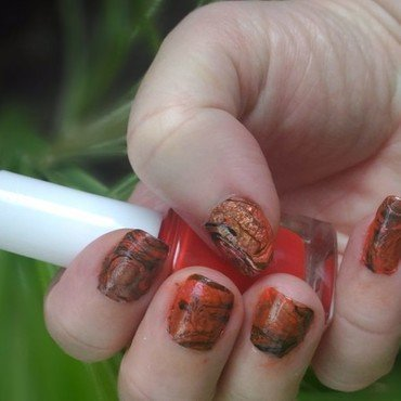 Fall Drip and drop nail art by tigerlyly