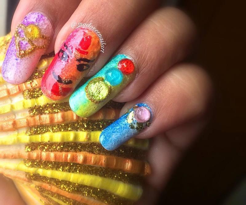 navratri nail art nail art by madovernailart