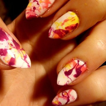 Colorful Splash! nail art by StyleNailsAndYou
