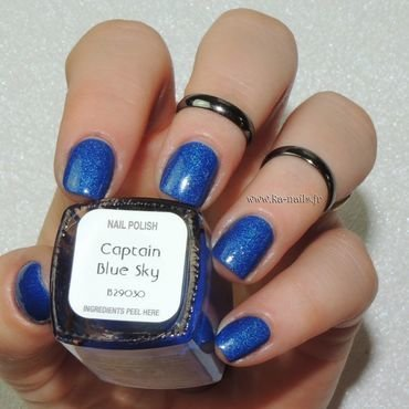 Il était un vernis Captain Blue Sky Swatch by Ka'Nails