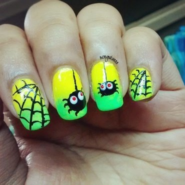 Halloween Spooky Spiders nail art by Sohini  Sengupta