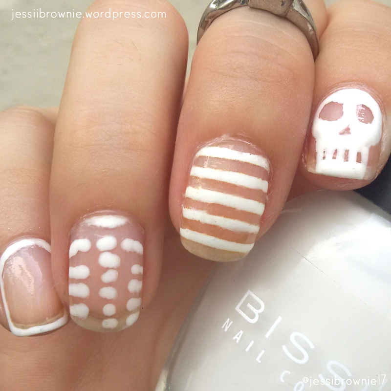 Negative Space Halloween Style nail art by Jessi Brownie (Jessi)