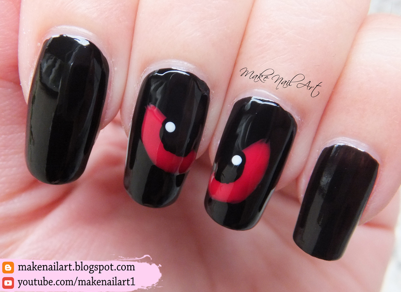 Spooky eyes nail art design nail art by make nail art nailpolis spooky eyes nail art design prinsesfo Image collections