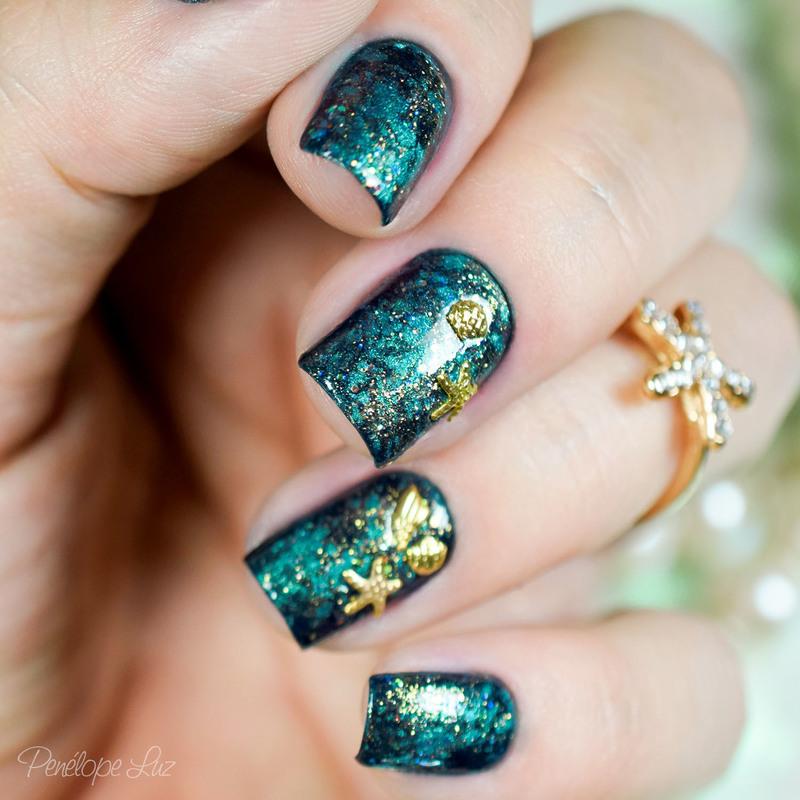 Mermaid Nail Art nail art by Penélope Luz