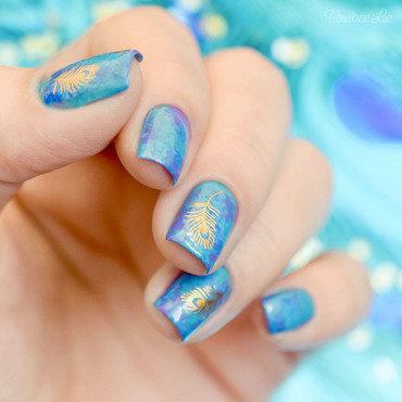 Peacock Nail art nail art by Penélope Luz