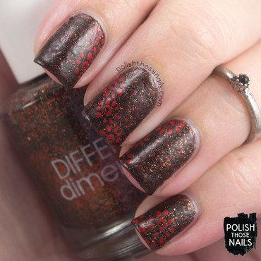 Dark glitter vampy floral pattern nail art 4 thumb370f