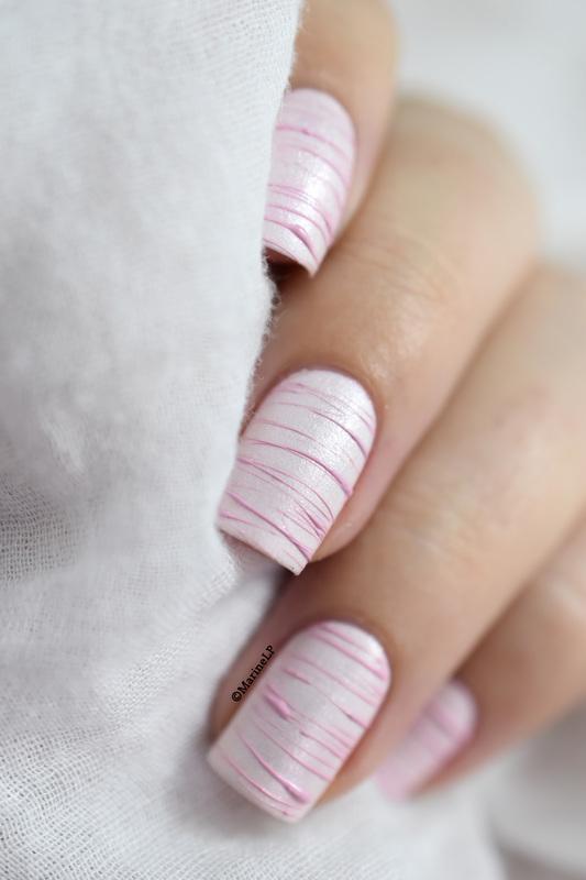 Sugar Spun nail art by Marine Loves Polish