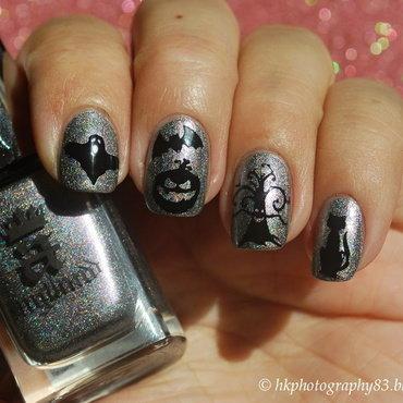 Halloween Stamping Nail Art nail art by Hana K.