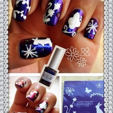 lavender dreams nail art by Idreaminpolish