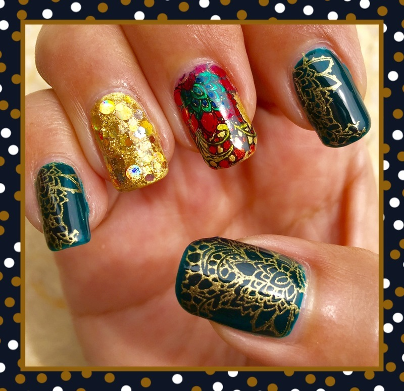 colours of india nail art by Idreaminpolish