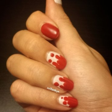 Red Blood or Red Ice Cream? nail art by xniteskyx