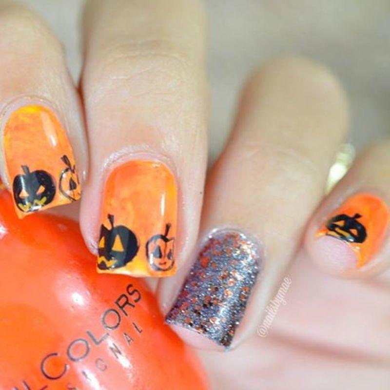 Jack-O-Lantern Nail Art nail art by Sheily (NailsByMae)