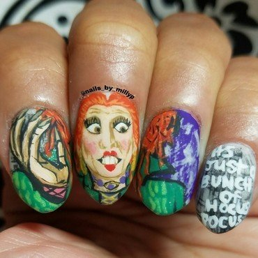 Hocus Pocus nail art by Milly Palma