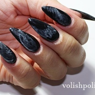 Smoke effect on nails nail art by Volish Polish