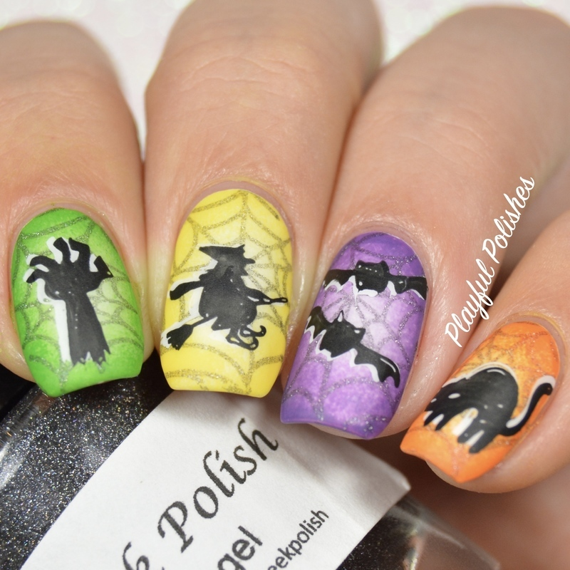 Cute Halloween Nails nail art by Playful Polishes