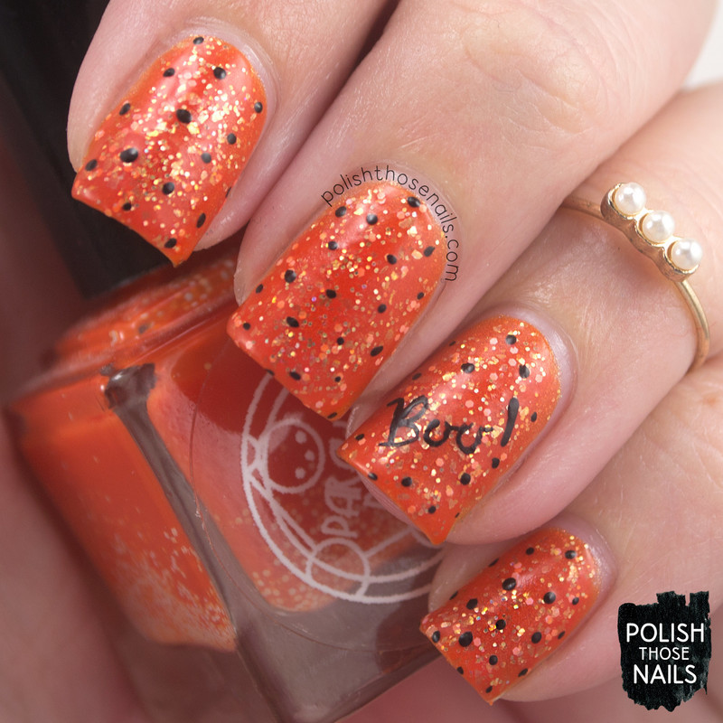 Orange Boo Glad? nail art by Marisa  Cavanaugh