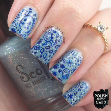 Scofflaw's Sea Souls nail art by Marisa  Cavanaugh