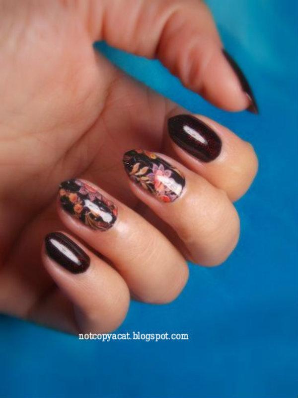 Vampy elegance. nail art by notcopyacat