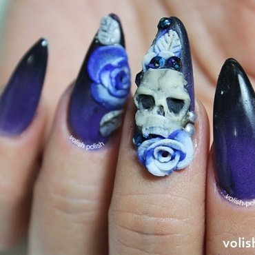 Gothic Gradient nail art by Volish Polish