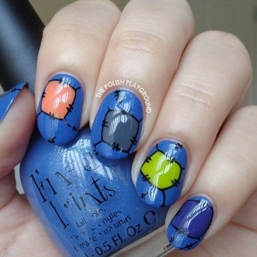 Halloween Inspired Patchwork Stamping nail art by Lisa N