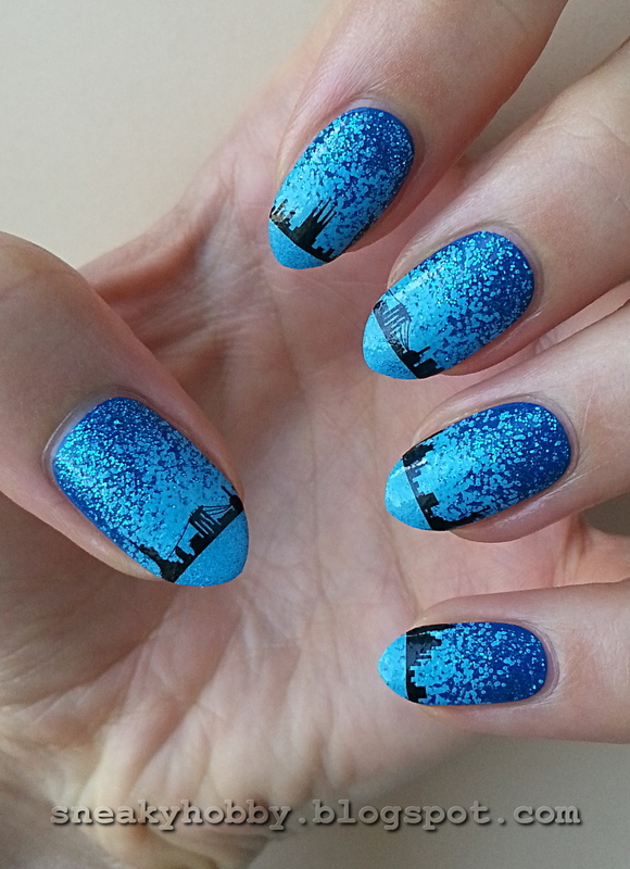 Nightscape Water Decals 2 nail art by Mgielka M
