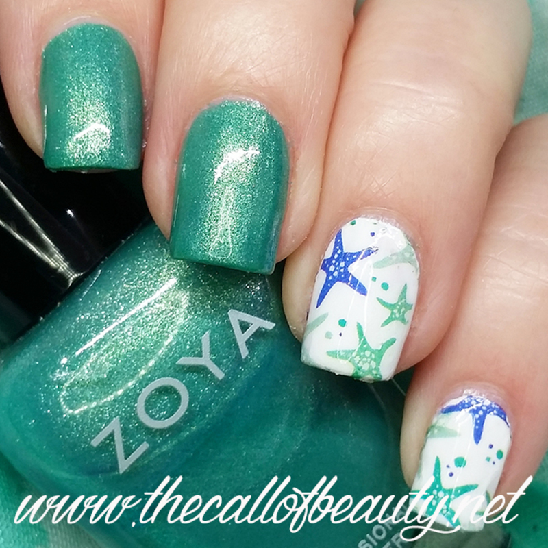 Starfish nail art by The Call of Beauty - Starfish Nail Art By The Call Of Beauty - Nailpolis: Museum Of Nail Art